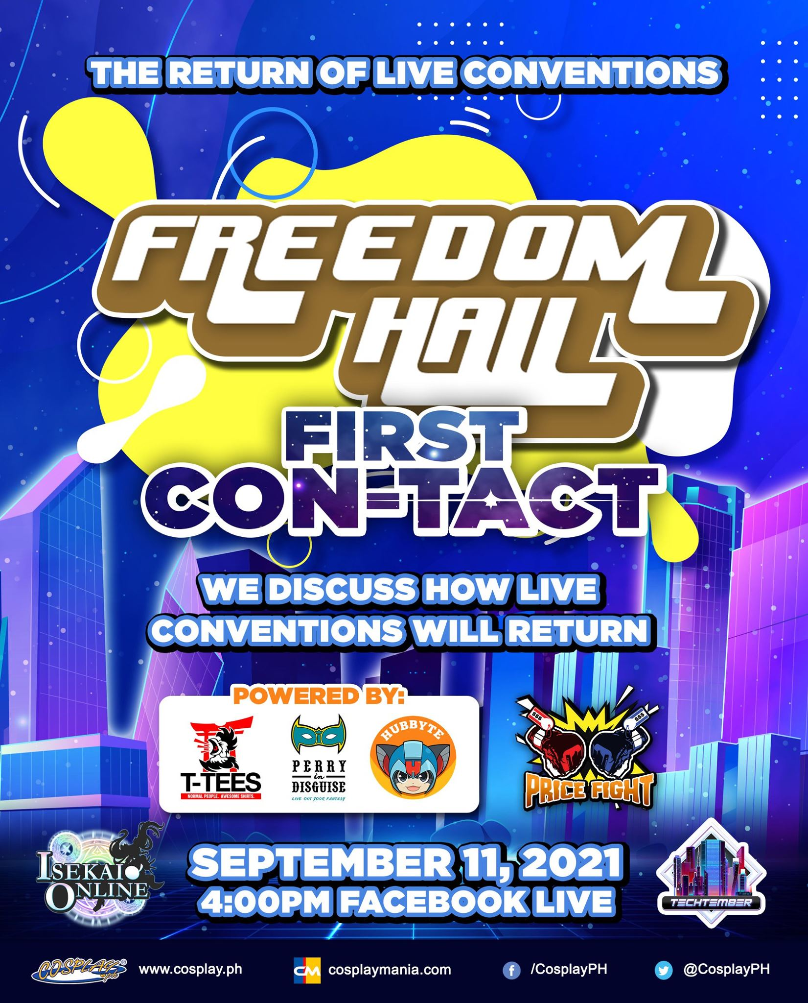 Freedom Hall First Con-tact Poster